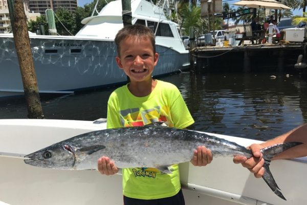 Nice kingfish caught by this kiddo on a sportfish charter aboard the New Lattitude